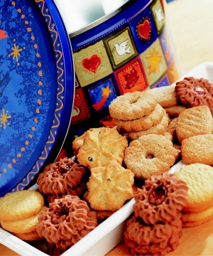 Gigantic European Cookie Tin image