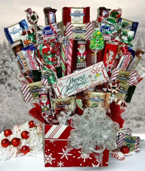 Winter wonderland candy bouquet aagiftsandbaskets