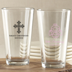 Personalized Baptism Party Favor Glasses