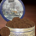 Currier & Ives Tin with 12 Custom Logo Cookies
