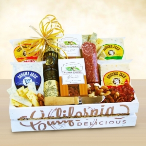 Holiday Creamery Gourmet Meat & Cheese Gift Crate imagerjs