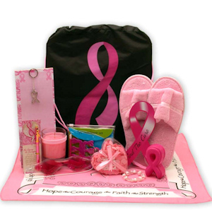 Be Aware and Show You Care Breast Cancer Gift Tote imagerjs