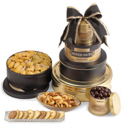 Gourmet Sympathy Gift Tower image