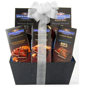 Ghirardelli Intense Dark Chocolate Basket imagerjs