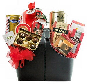 Leather Tote Holiday Gourmet Gift image