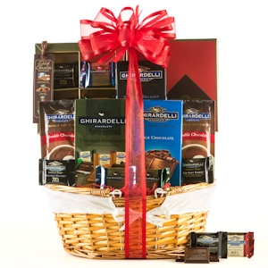 Best of Ghirardelli Chocolate Holiday Basket imagerjs