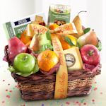 Birthday Fruit Basket with Cheese & Nuts