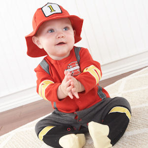 Baby Firefighter Layette Set imagerjs