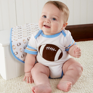 Tiny Touchdown Football Themed Layette Set imagerjs