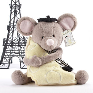 Plush Mouse and Blanket Gift Set imagerjs