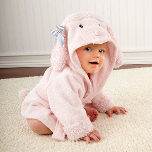'Pretty in Pink' Poodle Hooded Spa Robe imagerjs