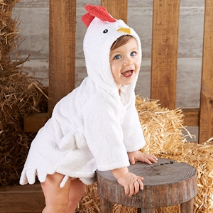 Barnyard Bathtime Chicken Hooded Spa Robe imagerjs