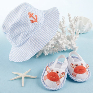Coastal Cuties Sun Hat and Booties for Boy imagerjs
