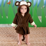 Born to be Wild Monkey Hooded Spa Baby Robe