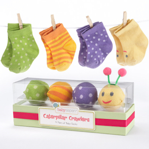 Caterpillar Crawlers Baby Socks in Gift Box imagerjs