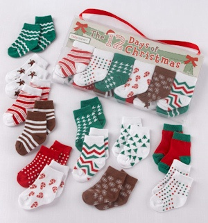 The 12 Days of Christmas Holiday Baby Socks imagerjs