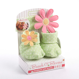 Bunch O' Blooms Headband with Booties Gift Set imagerjs