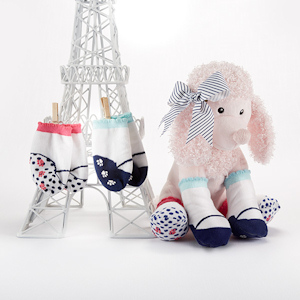 'Poodle Paws' Plush Poodle with Socks for Baby imagerjs