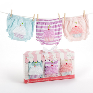 'Baby Cakes' Set of Three Cupcake Bloomers (2 Sizes) imagerjs