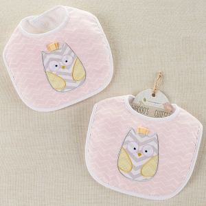 Whooo's the Cutest Owl Baby Bib imagerjs