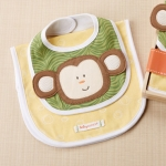 Safari Bib & Burp Baby Gift Set