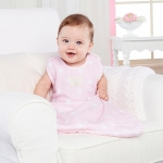 Sweet Snuggles Pink Muslin Wearable Blanket