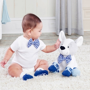 Oscar Oxfords Plush with Bow Tie and Socks for Baby imagerjs