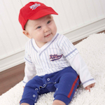 Baby Baseball Layette Set