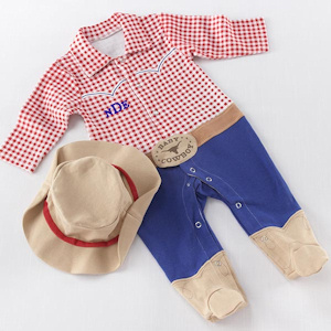 Baby Cowboy Two Piece Layette Set imagerjs