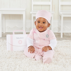 Baby M.D. Three-Piece Pink Doctor Layette Set imagerjs