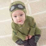 Baby Pilot Two-Piece Sleep Set