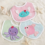 Beach Buddies 3 Piece Bib Gift Set for Girl