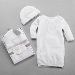 Baby Blessings Baptism Gown & Cap Set imagerjs