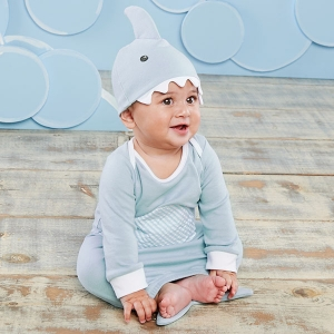 Let The Fin Begin Two-Piece Blue Layette Set imagerjs