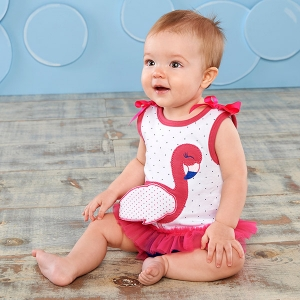 Fancy Flamingo Tunic and Diaper Cover Set imagerjs
