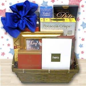 In Honor of a Hero Gift Basket imagerjs