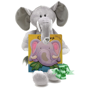Elephant Plush and Board Book Gift Set imagerjs