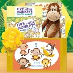 5 Little Monkeys Baby Books Gift Box
