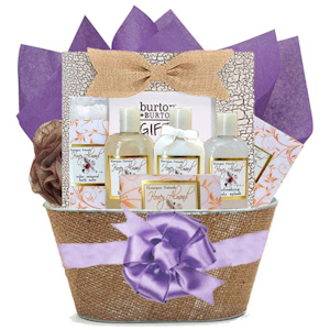 Honey Almond Bath and Body Basket with Book imagerjs