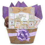 Honey Almond Bath and Body Basket with Book