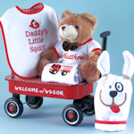 Little Squirt Firefighter Welcome Wagon for Boy or Girl