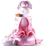 Sweet Baby Rabbit Diaper Cake