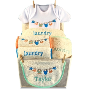 Baby Laundry Personalized Baby Gift Basket imagerjs