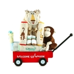 Safari Themed Welcome Wagon Baby Gift
