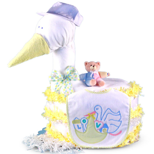 Stork Baby Gift Baskets Reviews : Stork delivers baby shower diaper cake aa gifts baskets