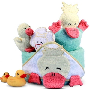 Ducky Hooded Towel Bath Time Baby Gift imagerjs