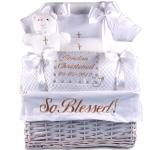 'So Blessed' Christening Baby Gift Basket