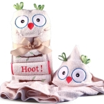 It's a Hoot Hooded Towel Personalized Baby Gift