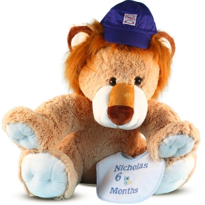 Giant Lion Plush Personalized Baby Gift Set imagerjs