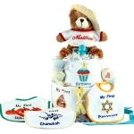 Baby's First Holidays Personalized Diaper Cake